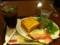 朝食は厚切りベーコンエッグと冷珈ソーダです