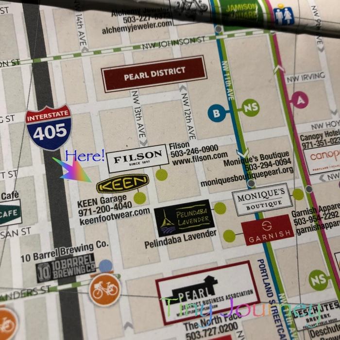 ポートランド中心部の無料地図