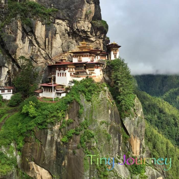 山の上のタクツァン僧院