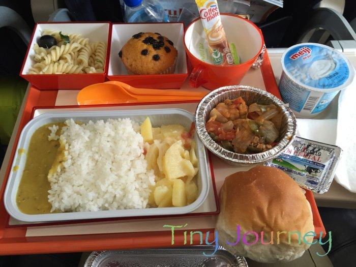 ロイヤルブータン航空の機内食