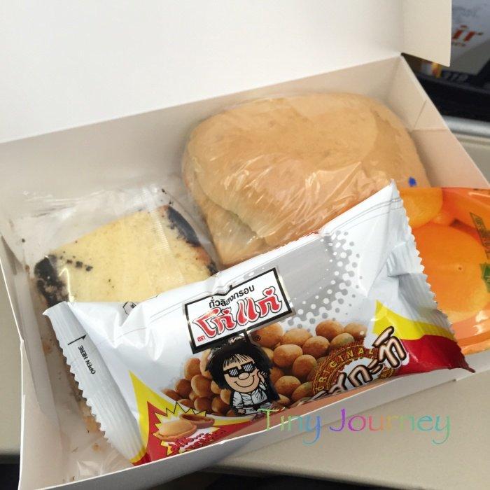 ロイヤルブータン航空の機内軽食