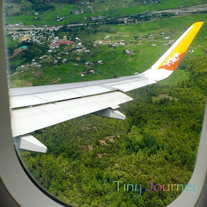 機内から見えるブータンの風景