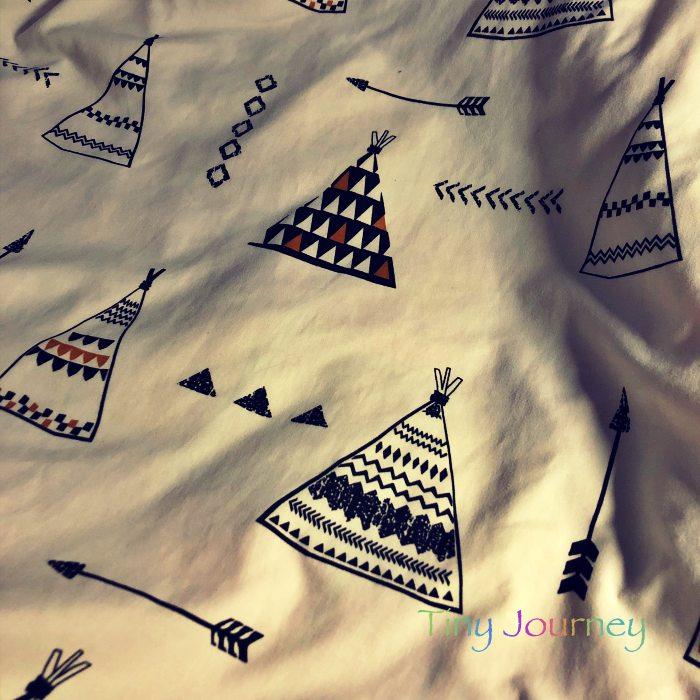 ティピ型テント柄の布団カバー