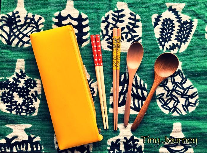 箸とスプーンとペンケース