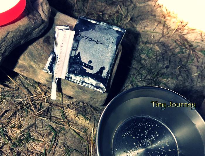 結露するドリップコーヒーの袋