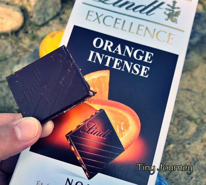 ショコラ・オランジュの板チョコ