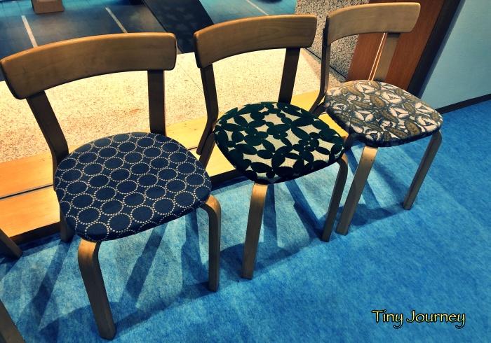 ミナ ペルホネンのファブリックを使った椅子