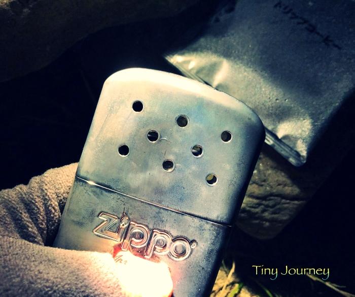 ZIPPOの白金カイロ