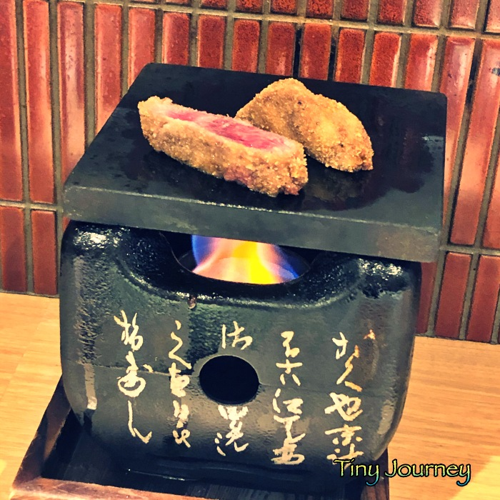 牛カツを焼く一人用プレート