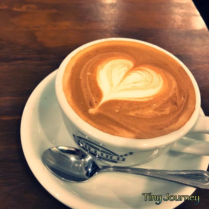 ハート柄のカフェラテ