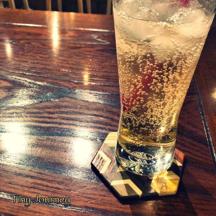 グラスに入ったジンジャーエール