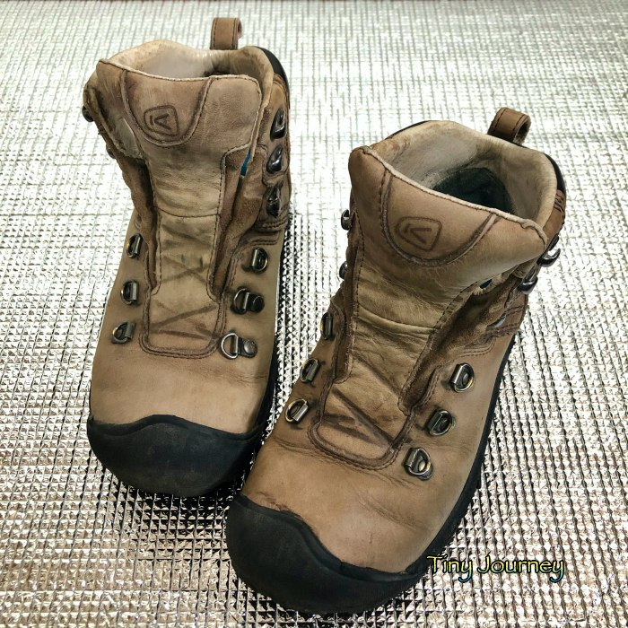 靴クリームを塗る前後の靴