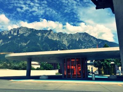 リヒテンシュタイン行きのバスのターミナル