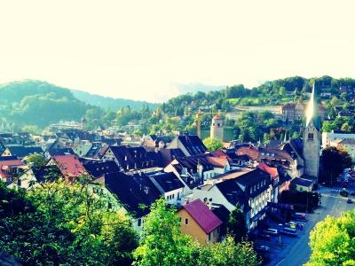 シャッテンブルク城から見たフェルトキルヒの街並み