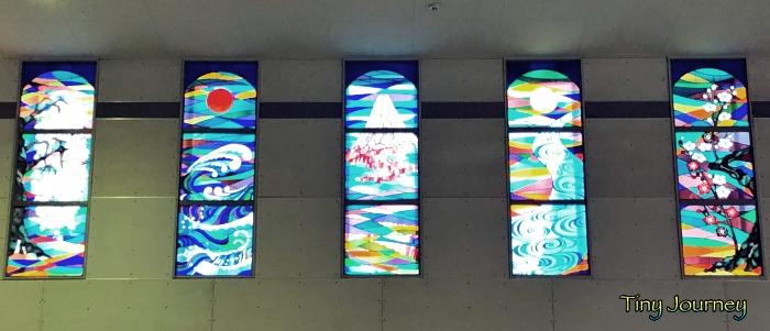 小田原駅のステンドグラス