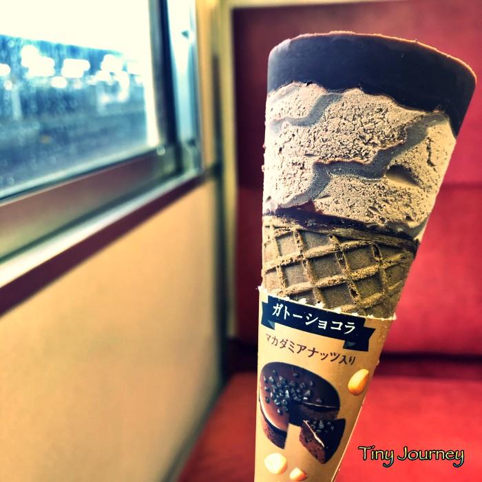 自販機で購入したガトーショコラのアイスクリーム