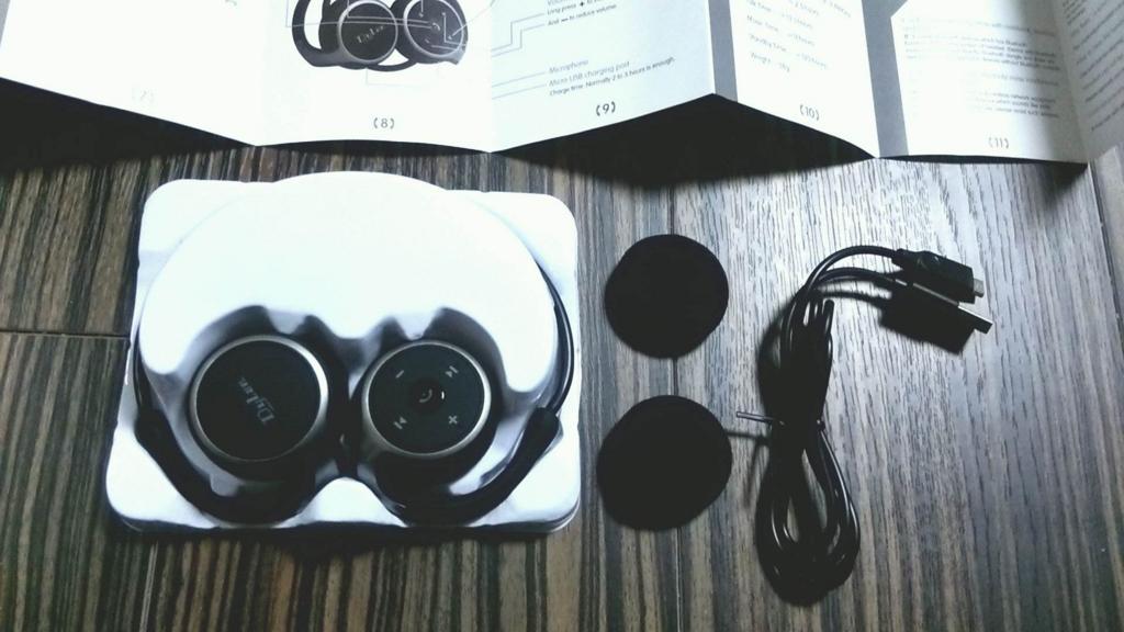 Dylan Bluetooth イヤホン CVC 6.0ノイズキャンセル機能搭載 高音質 ランニング仕様 耐水 イヤホン bluetooth ワイヤレス イヤホン bluetooth ヘッドホン ヘッドセット イヤフォン ヘッドフォン (ブラック)本体、説明書、イヤーパッド充電ケーブル