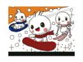 うごキャラ+雪(カラフル)