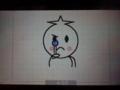 ウゴマルLINE表情(虫眼鏡)