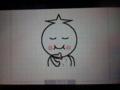 ウゴマルLINE表情(お腹いっぱい)
