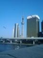 スカイツリー@吾妻橋の水上バス付近