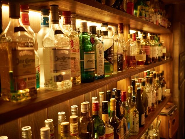 ボトルの陳列