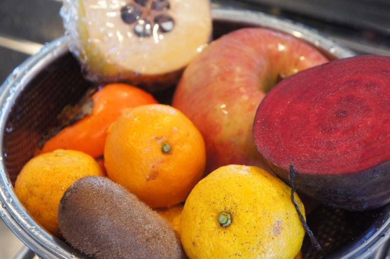 酵素ジュース冬の果物