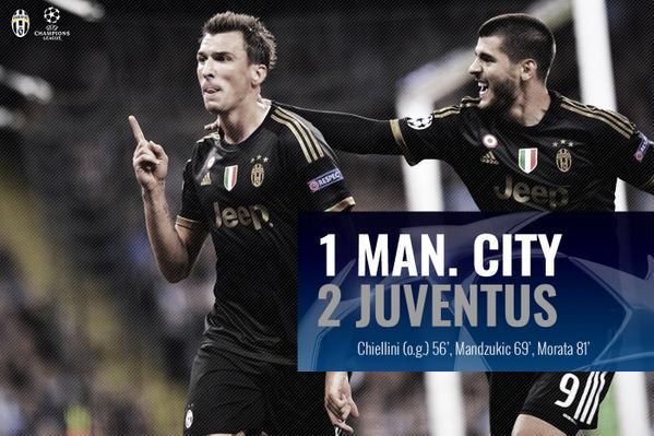 画像:2015/16 UEFA CL Man. City - Juventus