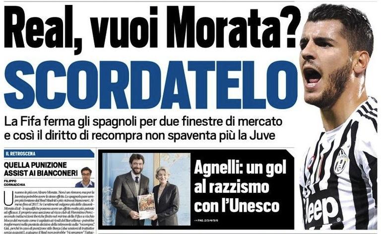 画像:レアル、モラタの買い戻し権を喪失?
