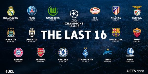 画像:The Last 16, 2015/16 UEFA CL