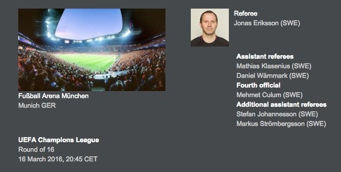 画像:UEFAから発表された審判団