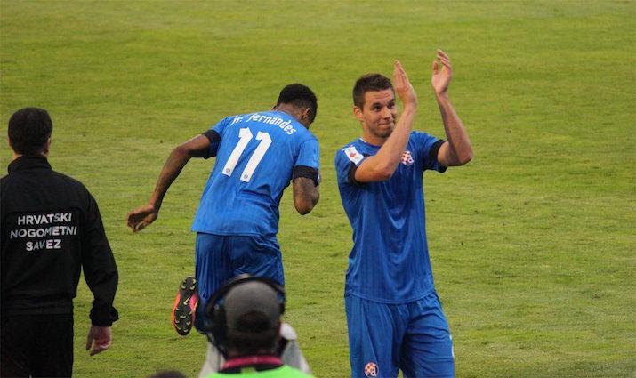 画像:クロアチアリーグ開幕節に出場したピアツァ