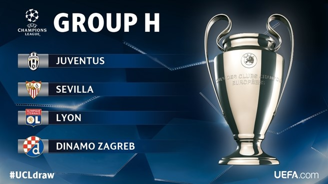 画像:2016/17 UEFA チャンピオンズリーグ・グループH