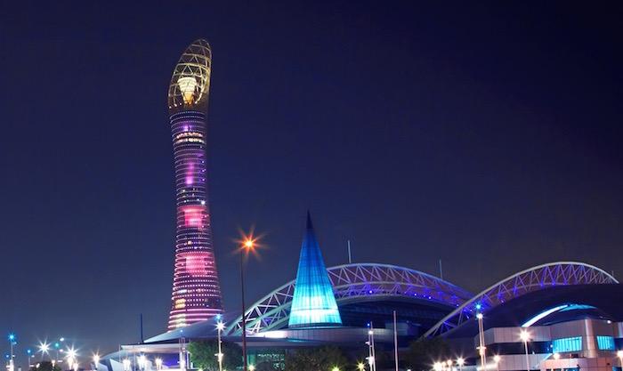 画像:ユベントスが宿泊する The Torch - Doha
