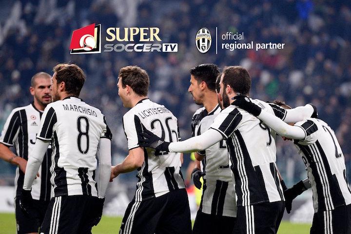 画像:ユベントスとSuper Soccerが地域パートナー契約を締結
