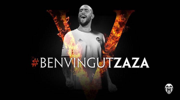 画像:バレンシア加入が発表されたシモーネ・ザザ