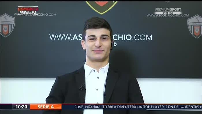 画像:メディアセットのカメラに語ったオルソリーニ