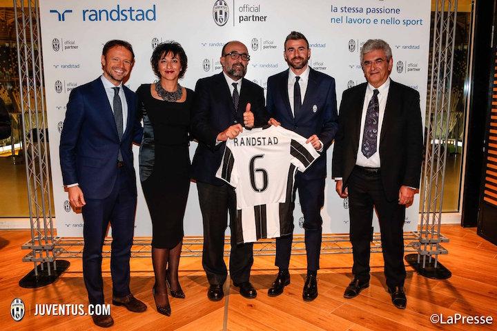 画像:Juventus x Randstad until 2020