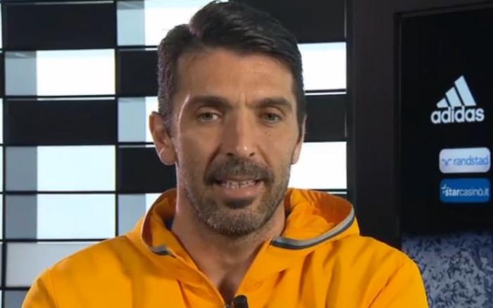画像:スカイ・イタリアからのインタビューに応じたブッフォン