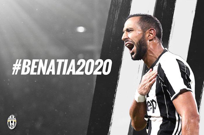 画像:ユベントスに完全移籍し、2020年までの契約を結んだベナティア