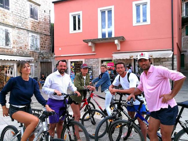 画像:クロアチア・フヴァル島に滞在中のマルキージオ