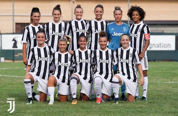 画像:公式戦デビューを飾ったユベントス・女子チーム