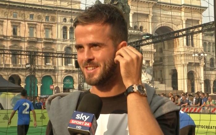 画像:スカイ・イタリアからのインタビューに応じるピアニッチ