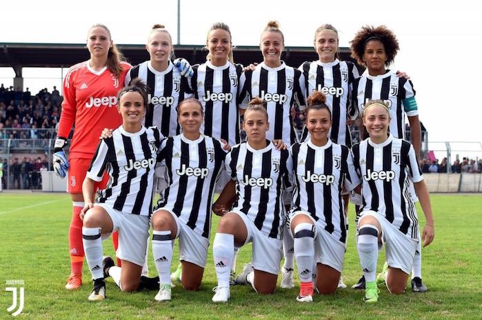 画像:セリエAデビューを果たしたユベントス女子チーム