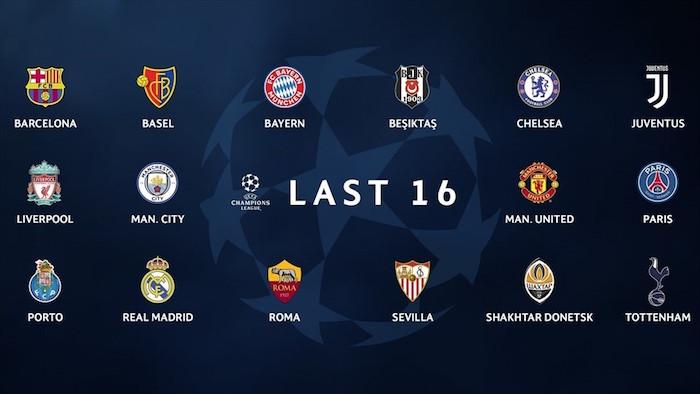 画像:2017/18 UEFA CL 決勝ラウンド