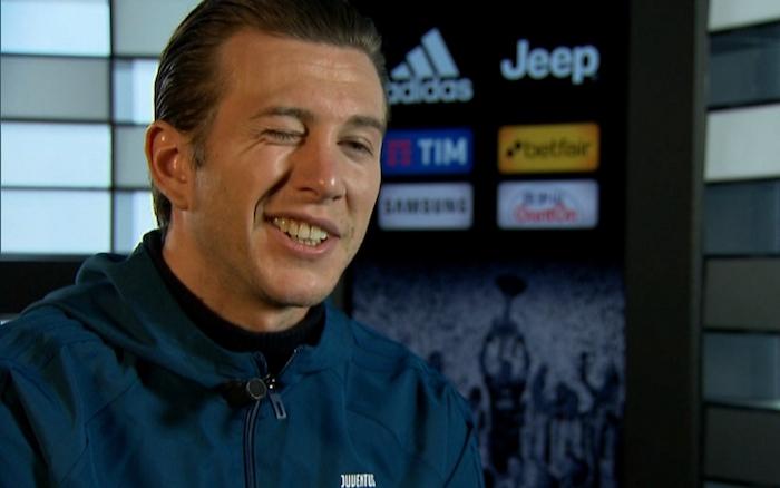 画像:スカイ・イタリアからのインタビューに応じたベルナルデスキ