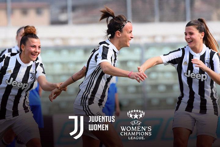 画像:2018/19 UEFA 女子チャンピオンズリーグ出場権を獲得したユベントス