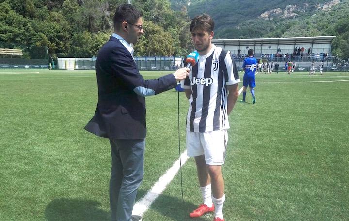画像:試合後のインタビューに応じたデル・ソーレ選手