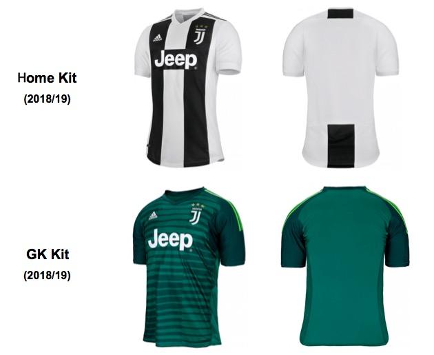 画像:2018/19 Home Kit & GK Kit