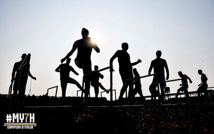画像:ビノーボで調整する選手たち